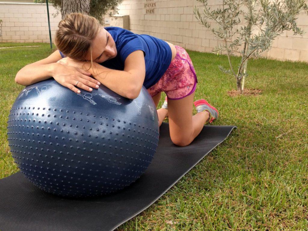 Ejercicio con fitball para embarazadas - Activación suelo pélvico
