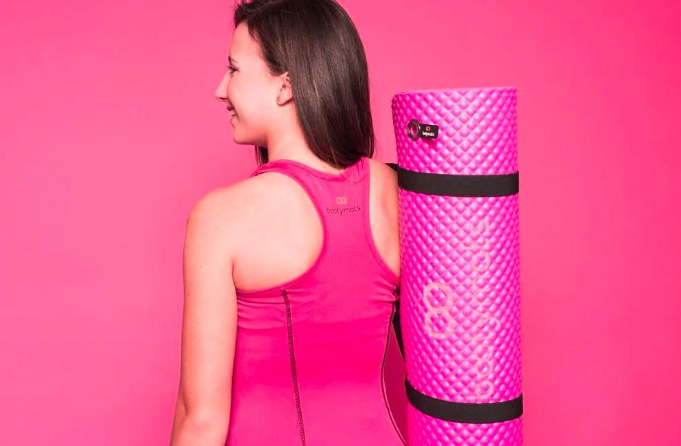 Colchoneta deportiva Bootymats rosa