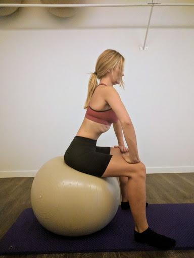 ejercicio abdominal sentada